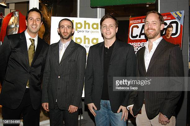Owners of Alpha Christos Garkinos and Darren Gold with Ariel Foxman editorinChief of Cargo and Bruce Pask style director of Cargo
