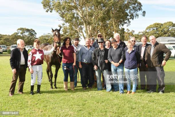 Owners of Avanti Rose after winning Save The Date March 31 2018 Maiden Plate at Warracknabeal Racecourse on May 27 2017 in Warracknabeal Australia