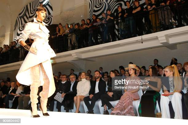 Owners of Gaultier Manuel Puig his brother Marc Puig Marion Cotillard Nicolas Ghesquiere guest Hai Ron Tian Katerina Graham and Paloma Faith attend...