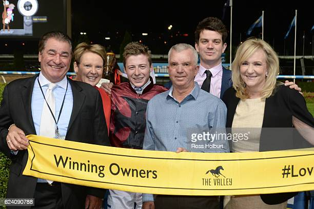 Owners of In Fairness after winning Marcus Oldham Agriculture Handicap at Moonee Valley Racecourse on November 18 2016 in Moonee Ponds Australia