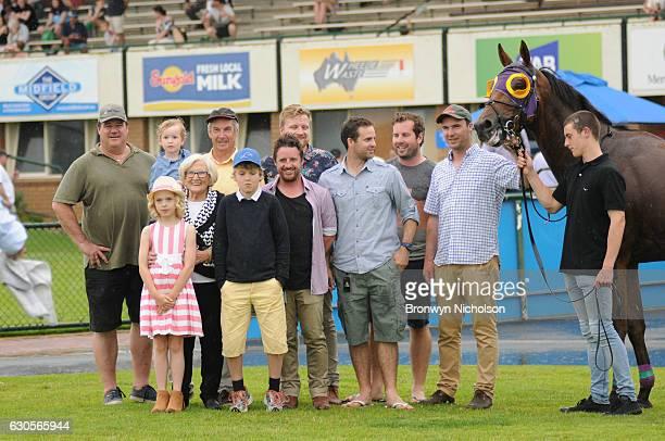 Owners of Kilowatt after winning Sungold Milk BM70 Handicap at Warrnambool Racecourse on December 27, 2016 in Warrnambool, Australia.
