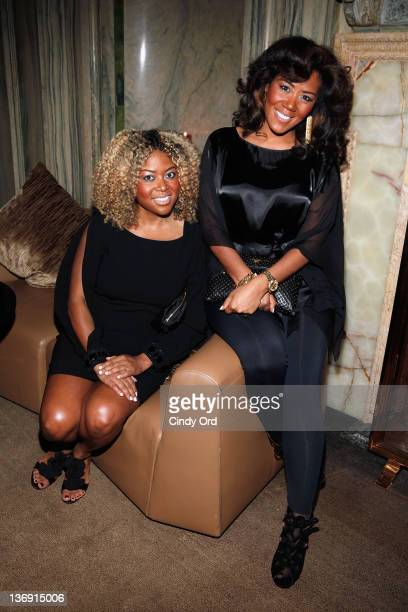 Owners of Miss Jessie's Titi Branch and Miko Branch attend the Target salute to Miko Branch and Titi Branch to celebrate being named two of Ebony...