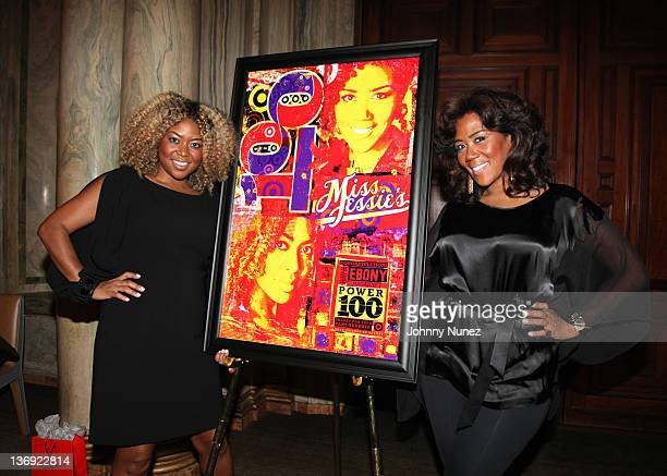 Owner's of Miss Jessie's Titi Branch and Miko Branch attend the Target salute to Miko Branch and Titi Branch to celebrate being named two of Ebony...