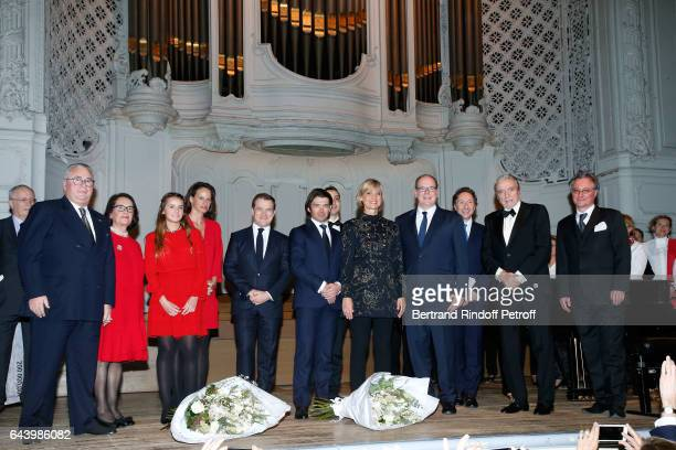 Owners of the Salle Gaveau JeanMarie Fournier and his wife Chantal Fournier Anabelle Jaeger violinist Renaud Capucon pianist Miroslav Kultyshev...