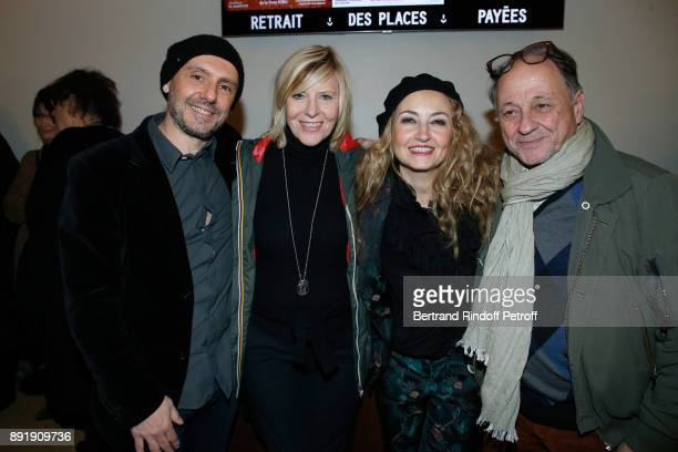 Owners of the 'Theatre de la Tour Eiffel' Christelle Chollet and her husband Remy Caccia Chantal Ladesou and her husband Michel Ansault attend Fred...