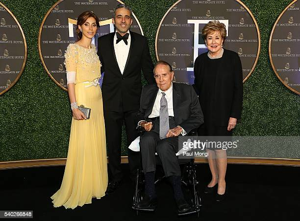 Owners of The Watergate Hotel Rakel Cohen and Jacques Cohen and former Sen Bob and Elizabeth Dole celebrate at the grand reopening party of the...