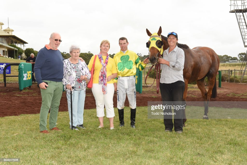 Owners of Zartini after winning the Warrnambool Racing Club BM58 Handicap at Hamilton Racecourse on January 12, 2018 in Hamilton, Australia.
