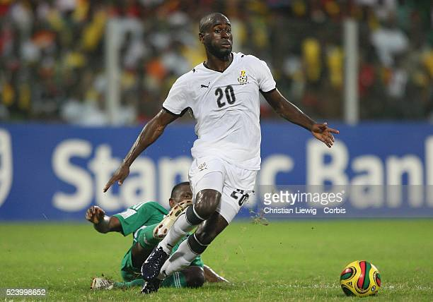 Owusu of Ghana during the CAF African Cup of Nations Quaterfinal match between Ghana and Nigeria in Accra Ghana West Africa