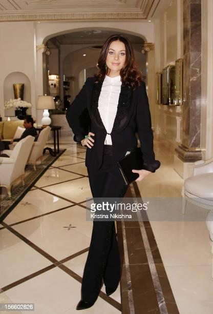 Oxana Fedorova arrives at the launch of the Four Seasons Hotel Baku on November 17 2012 in Baku Azerbaijan