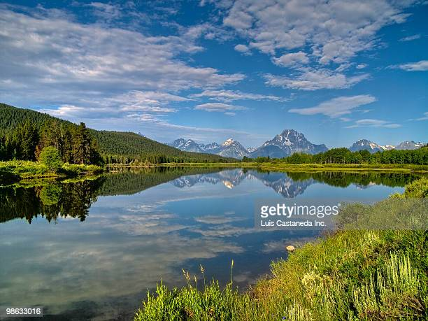 Oxbow Bend of Snake River. Wyoming