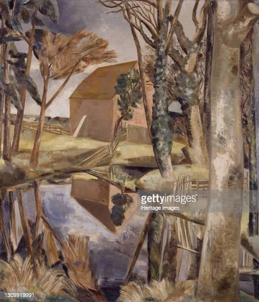 Oxenbridge Pond, 1927-28. Artist Paul Nash. .