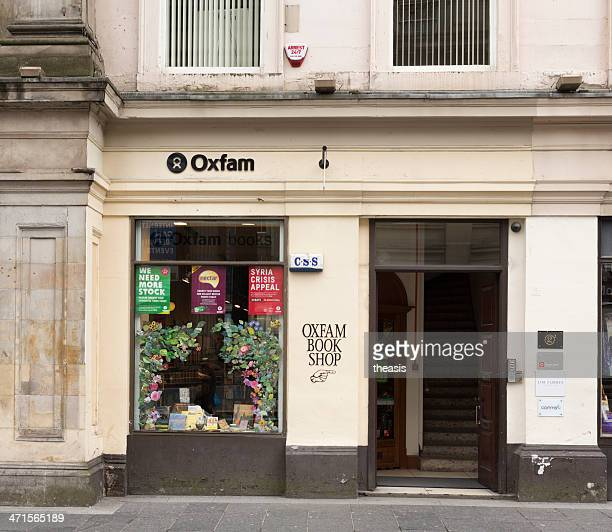 oxfam bookshop, glasgow - theasis stock pictures, royalty-free photos & images