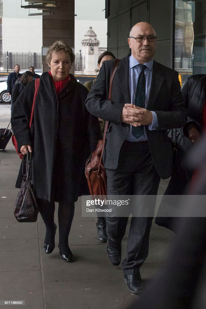 Oxfam CEO Mark Goldring and Oxfam Chair of Trustees arrive to face a select committee hearing at Portcullis House on February 20, 2018 in London, England. Oxfam's aid work during the Haiti earthquake in 2010 has been overshadowed by reports of staff hiring local prostitutes. Among staff accused of sexual misconduct is the former director of operations in Haiti, Rolan Vaan Hauwermeiren. Oxfam's Chief Executive, Mark Goldring, appeared before the International Development select committee.