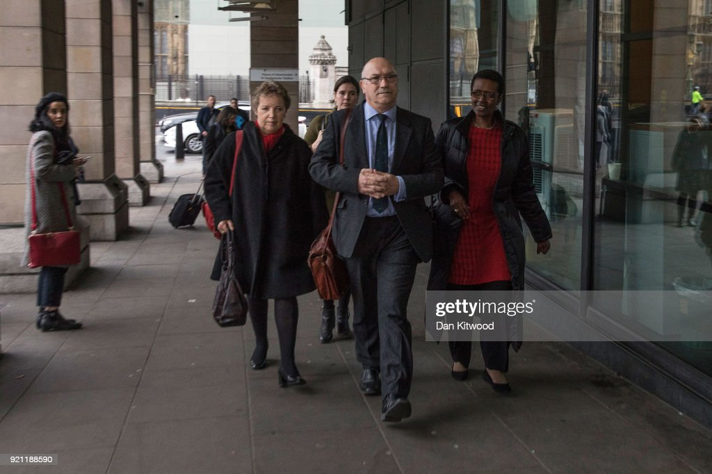 Oxfam CEO Mark Goldring (centre), Oxfam Chair of Trustees (left) and Executive Director of Oxfam, Winnie Byanyima, (right) arrive to face a select committee hearing at Portcullis House on February 20, 2018 in London, England. Oxfam's aid work during the Haiti earthquake in 2010 has been overshadowed by reports of staff hiring local prostitutes. Among staff accused of sexual misconduct is the former director of operations in Haiti, Rolan Vaan Hauwermeiren. Oxfam's Chief Executive, Mark Goldring, appeared before the International Development select committee.