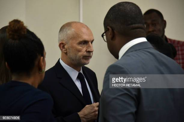 Oxfam Regional Director for Latin America and the Caribbean Simon Ticehurst leaves after a meeting with the Minister of Planning and External...