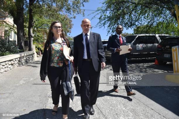 Oxfam Regional Director for Latin America and the Caribbean Simon Ticehurst and Oxfam Intermon Executive Affiliate Unit head Margalida Massot leave...