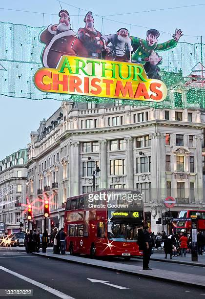 Oxford Circus displays its festivities as Christmas approaches on November 16 2011 in London United Kingdom