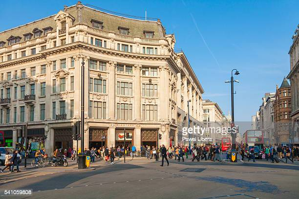 oxford circus, london, uk - oxford street london stock pictures, royalty-free photos & images