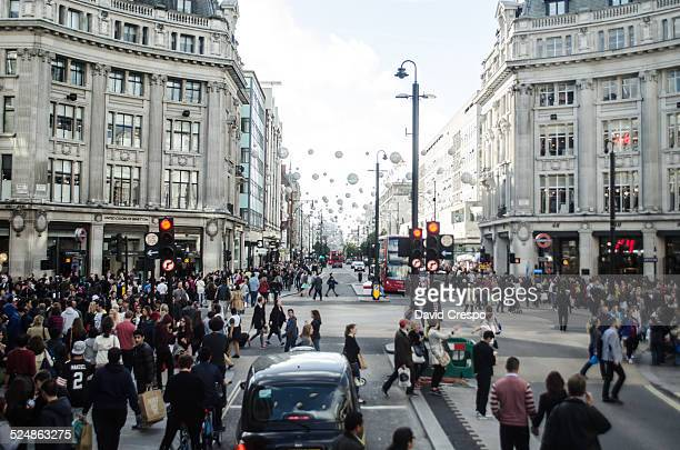 Oxford Circus Rush Hour Traffic in London