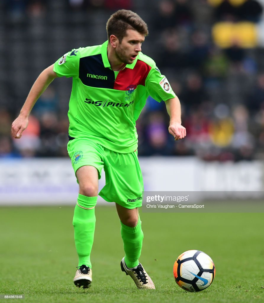 Oxford City's Dave Pearce during the Emirates FA Cup Second Round match between Notts County and Oxford City at Meadow Lane on December 2, 2017 in Nottingham, England.
