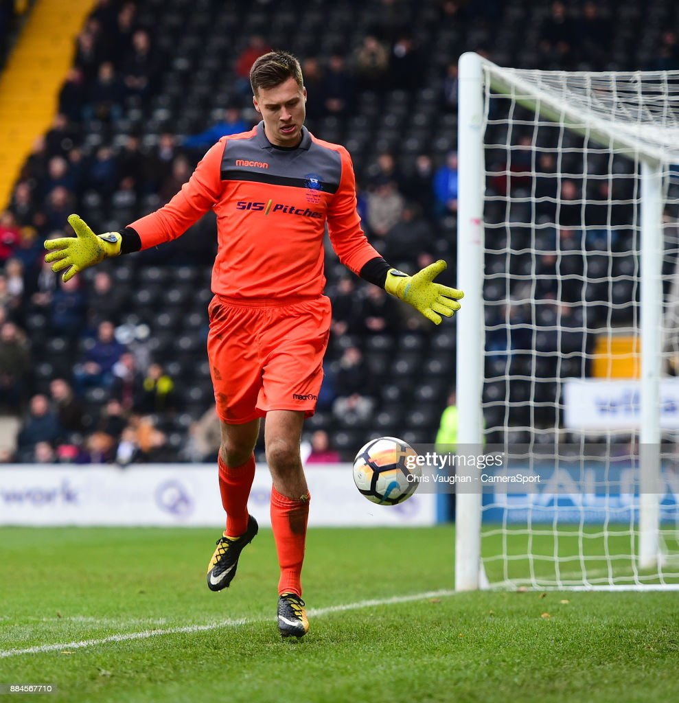 Oxford City's Jack Stevens during the Emirates FA Cup Second Round match between Notts County and Oxford City at Meadow Lane on December 2, 2017 in Nottingham, England.