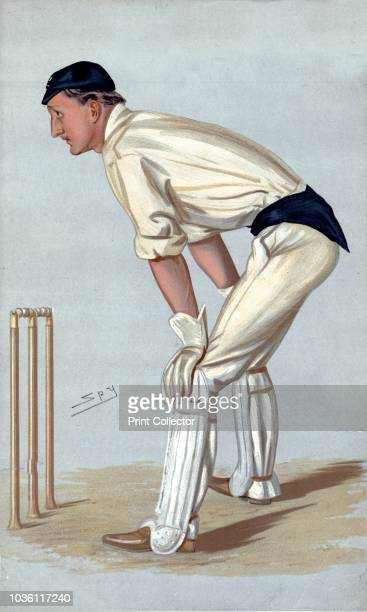Oxford Cricket', 1889. Wicket Keeper. Hylton 'Punch' Philipson played first-class cricket for Oxford University. From Vanity Fair. Artist Sir Leslie...