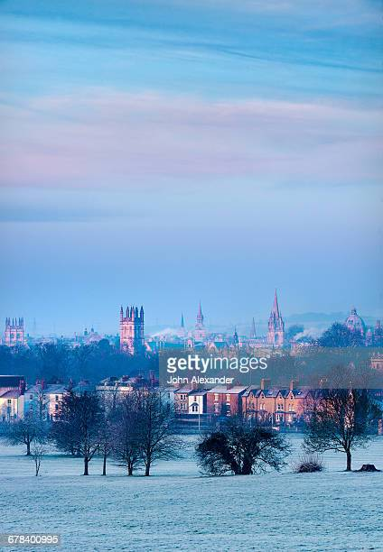 oxford from south park, oxford, oxfordshire, england, united kingdom, europe - spire stock pictures, royalty-free photos & images