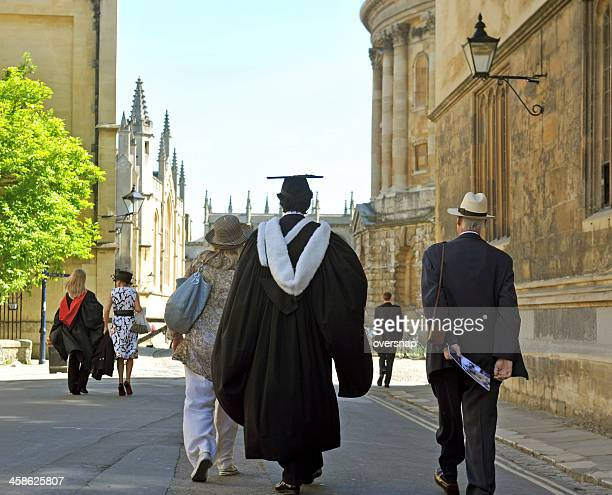 oxford graduation day - graduation background stock pictures, royalty-free photos & images