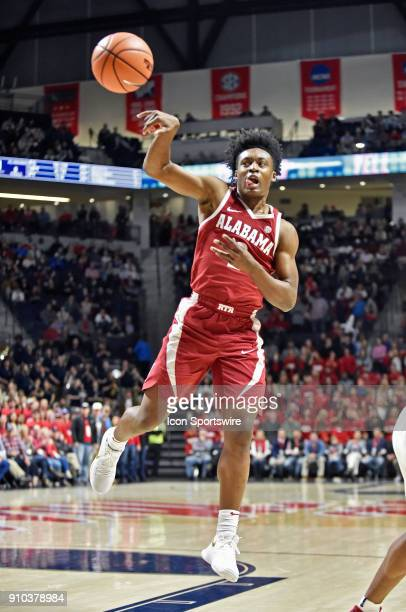 Alabama Crimson Tide guard Collin Sexton makes a pass during the first half of a NCAA college basketball game against the Mississippi Rebels at The...