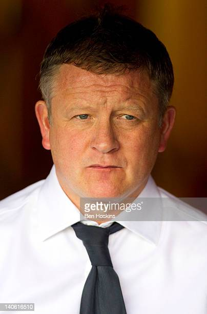 Oxford manager Chris Wilder looks on prior to the npower League Two match between Oxford United and Swindon Town at the Kassam Stadium on March 3...