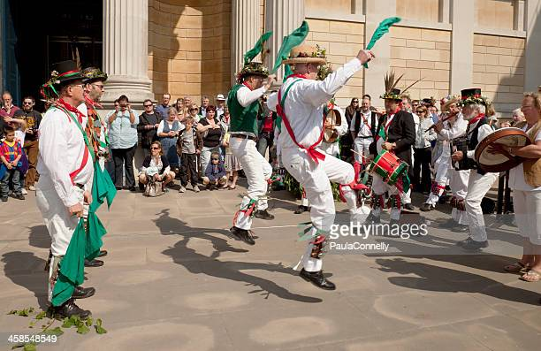 oxford morris dancers - morris dancing stock photos and pictures