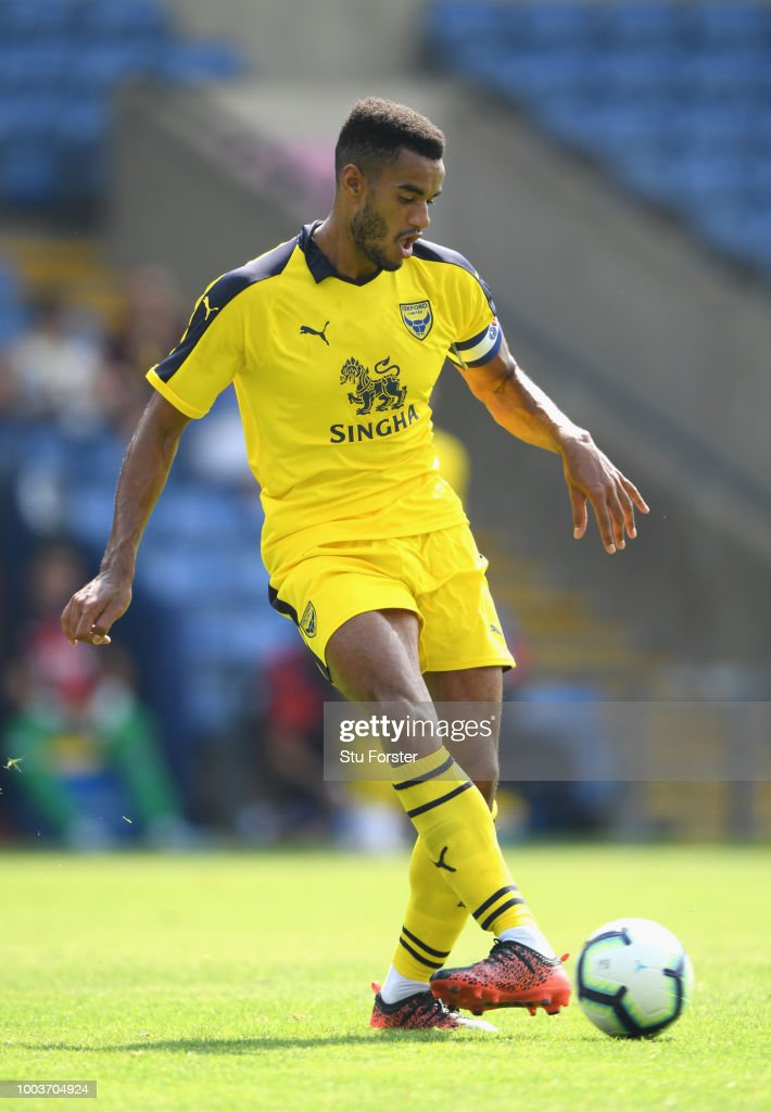Oxford player Curtis Nelson in action during a Pre-Season Friendly match between Oxford United and Crystal Palce at Kassam Stadium on July 21, 2018 in Oxford, England.