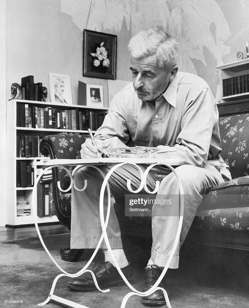 author william faulkner writing pictures getty images author william faulkner this is what the birth of literature