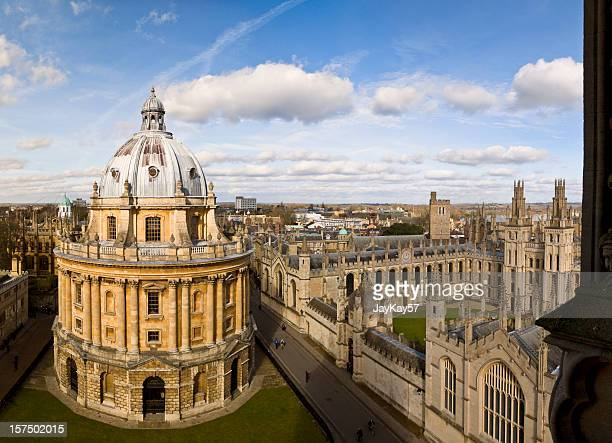 oxford skyline and radcliffe camera - oxford england stock pictures, royalty-free photos & images