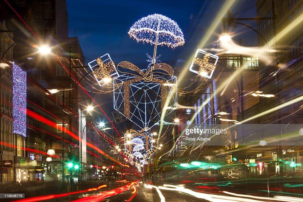 Oxford Street Christmas Lights London England Stock Photo ...