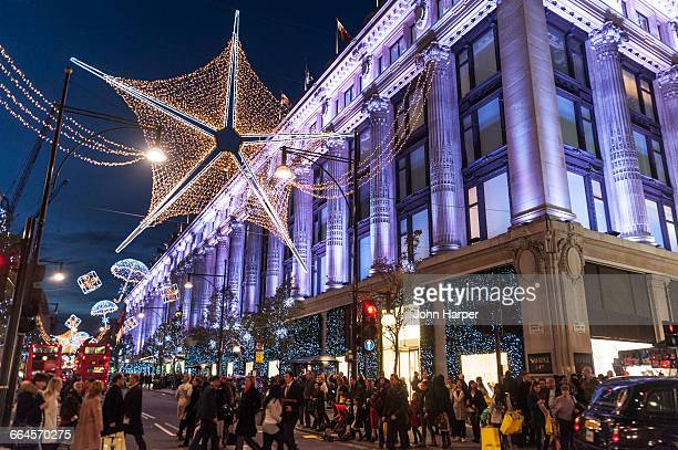 Oxford street, Christmas, London