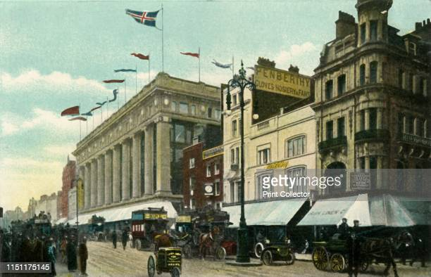 Oxford Street' circa 1910s View of Selfridges department store on London's famous shopping street The building was opened in 1909 From The Album of...
