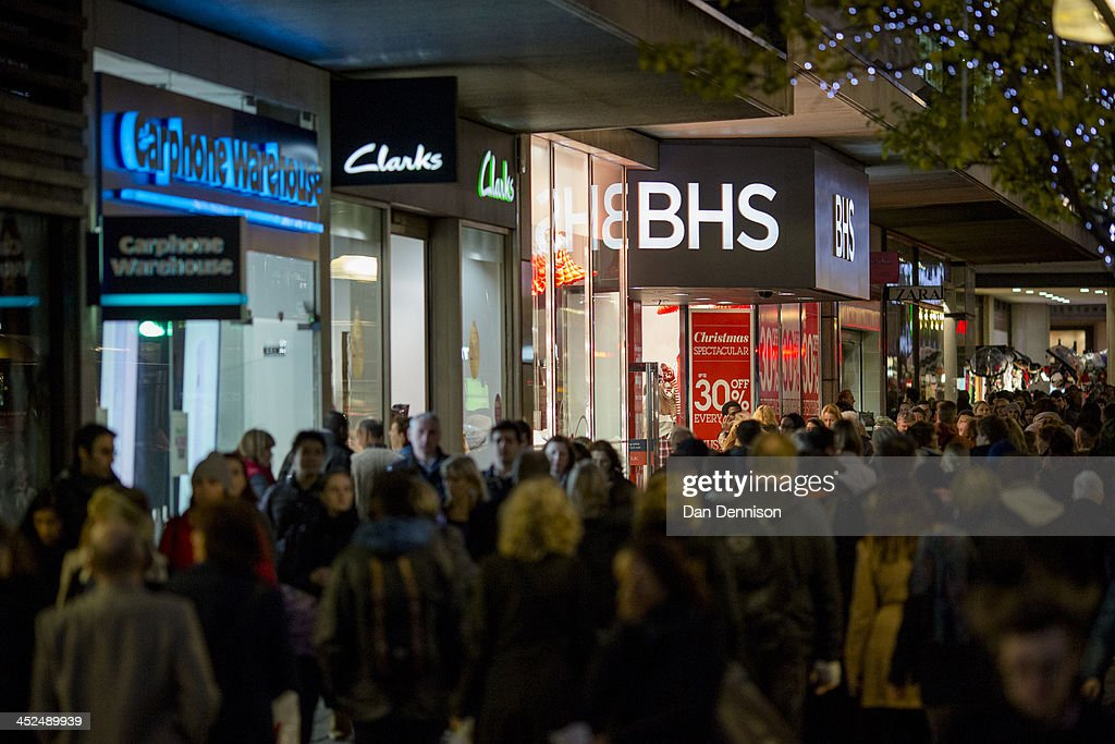 Oxford Street crowds on November 29, 2013 in London, United Kingdom. Though traditionally a US phenomenon, 'Black friday' sales appear to have taken hold in the UK with many retailers offering large discounts for one day only, mimicking the behaviour of their American counterparts.