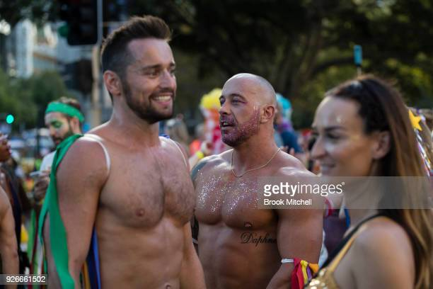 Oxford Street during the 2018 Sydney Gay Lesbian Mardi Gras Parade on March 3 2018 in Sydney Australia The Sydney Mardi Gras parade began in 1978 as...