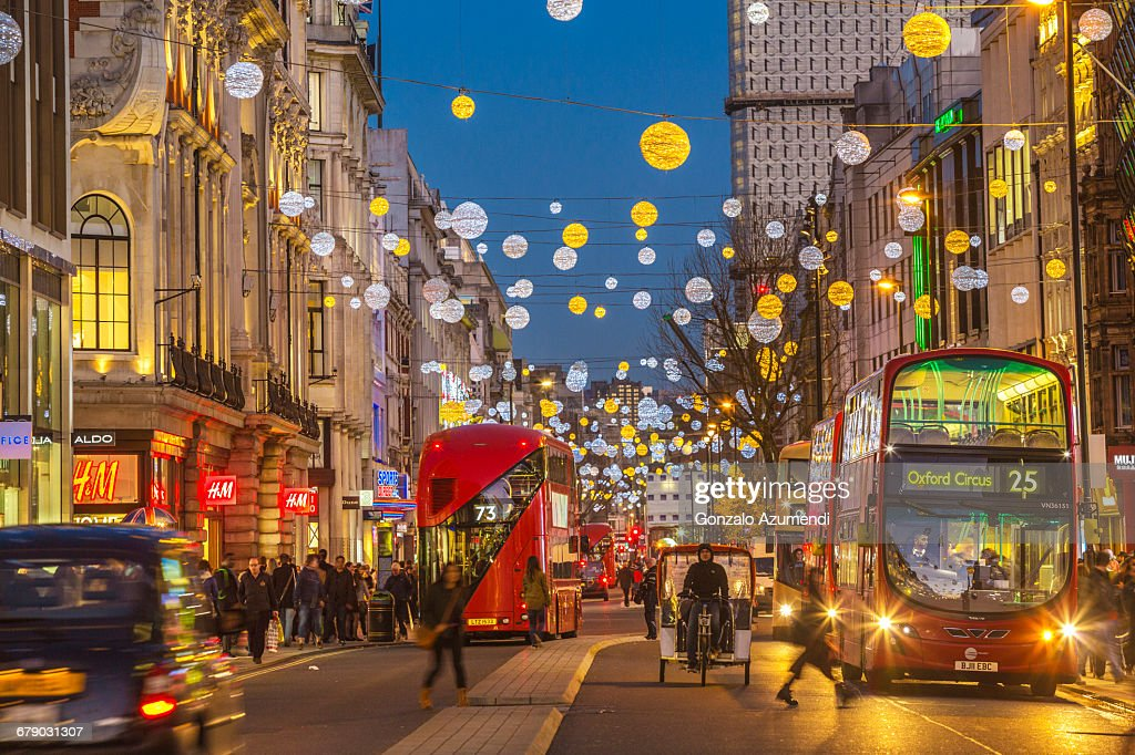 Oxford Street in London : Stock Photo