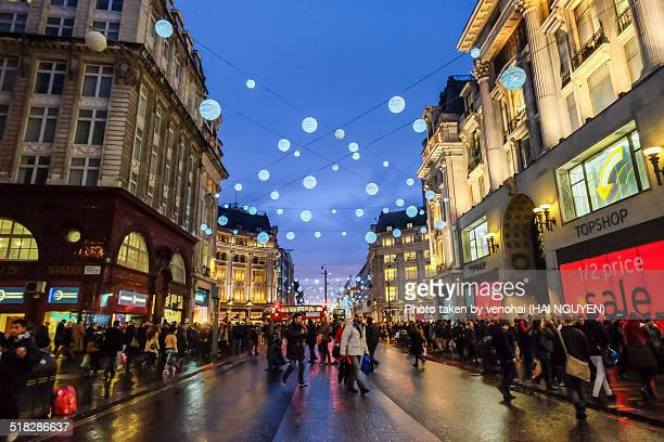 Oxford street in New Year's eve, London