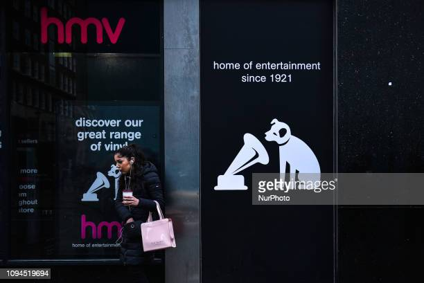 Oxford Street's iconic HMV store is pictured as it is one of the 27 stores to close across the UK London on February 6 2019 HMV has been rescued from...