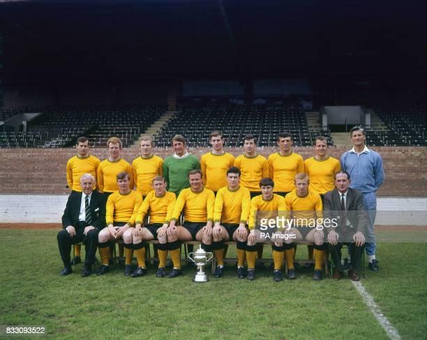 Oxford United FC showing the Third Division Championship Trophy Colin Harrington John Shuker Rodney Smithson Jim Barron Colin Clark John Lloyd...