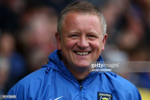 Oxford United Manager Chris Wilder looks on during the Sky Bet League Two match between Oxford United and Chesterfield at Kassam Stadium on September...
