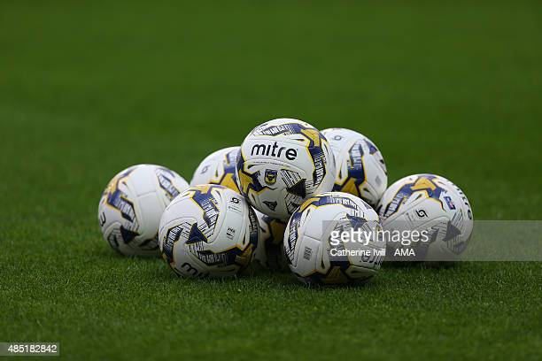 Oxford United mitre balls before the Sky Bet League Two match between Oxford United and Notts County at Kassam Stadium on August 18 2015 in Oxford...