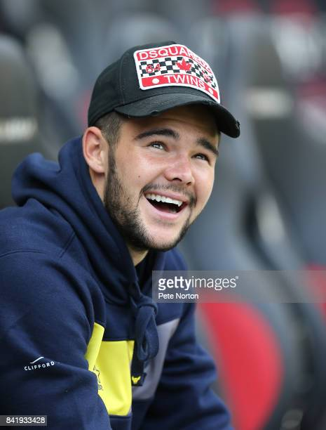 Oxford United new loan signing Alex Mowatt looks on prior to the Sky Bet League One match between Milton Keynes Dons and Oxford United at StadiumMK...