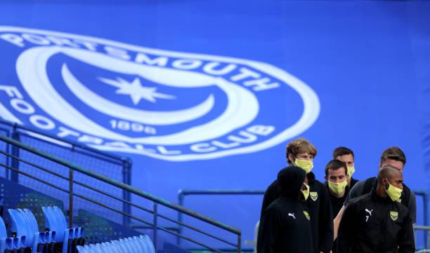 GBR: Portsmouth FC v Oxford United - Sky Bet League One Play Off Semi-final 1st Leg