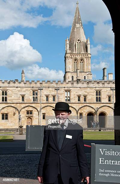 Oxford University constable outside Christ Church college