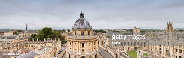 oxford university panorama uk - oxford england stock pictures, royalty-free photos & images