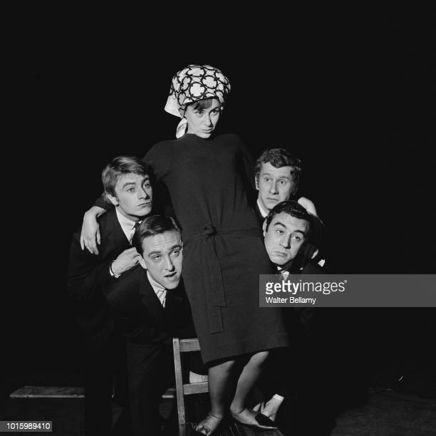 Oxford University students and actors Jane Brayshaw Doug Fisher Robin GroveWhite Ian Davidson Terry Jones starring in the play '****' UK 16th...